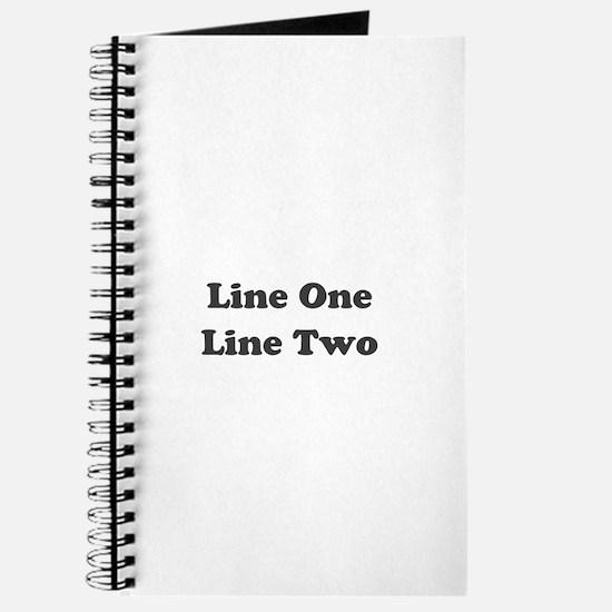 Two Line Custom Message Journal