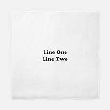 Two Line Custom Message Queen Duvet