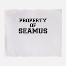 Property of SEAMUS Throw Blanket
