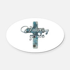 Unique Praise and worship Oval Car Magnet