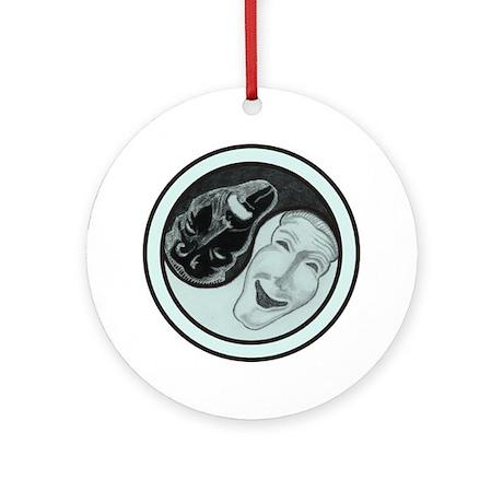 Masks Yin Yang Ornament (Round)