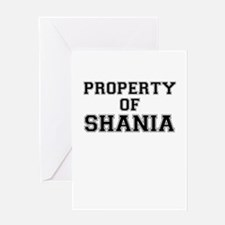 Property of SHANIA Greeting Cards