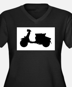 Scooter Silhouette Plus Size T-Shirt