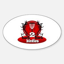 Cute Disc golf birdie Sticker (Oval)