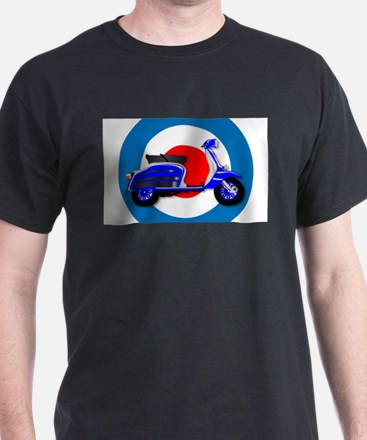 60s Scooter and UK Symbol T-Shirt