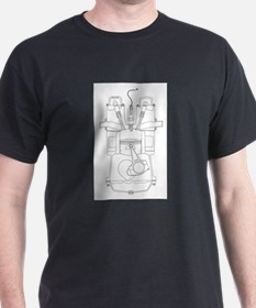 Outlind Drawing Petrol Engine T-Shirt