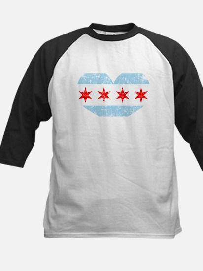 Chicago Flag Heart Baseball Jersey