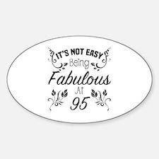 Cute 95th birthday for women Sticker (Oval)