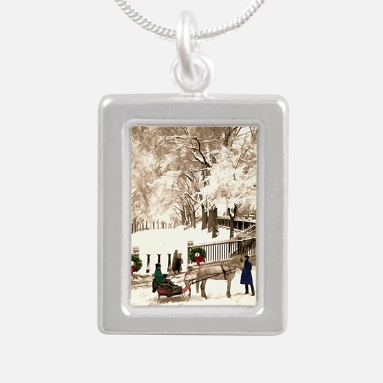 Boston Commons Snow in 1870s Necklaces