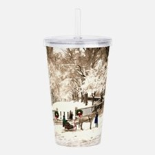 Boston Commons Snow in Acrylic Double-wall Tumbler