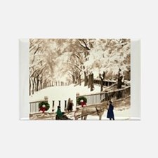 Boston Commons Snow in 1870s Magnets