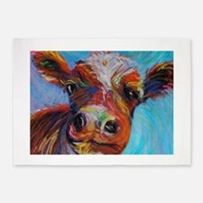 Bessie the Cow 5'x7'Area Rug
