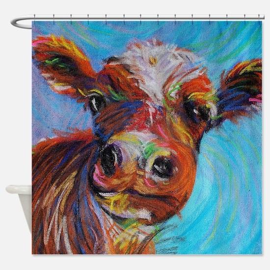 Bessie The Cow Shower Curtain