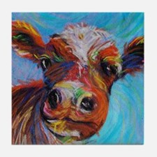 Bessie the Cow Tile Coaster