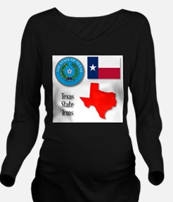 Texas State Icons Long Sleeve Maternity T-Shirt