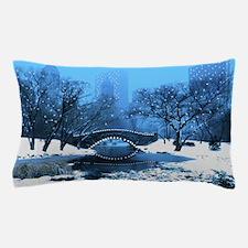 Central Park NY Bridge at Twilight Pillow Case