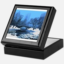 Central Park NY Bridge at Twilight Keepsake Box