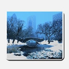 Central Park NY Bridge at Twilight Mousepad