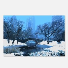 Central Park NY Bridge at Postcards (Package of 8)