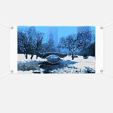 Central Park NY Bridge at Twilight Banner