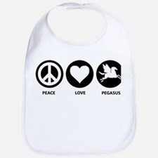 Peace Love Pegasus Bib