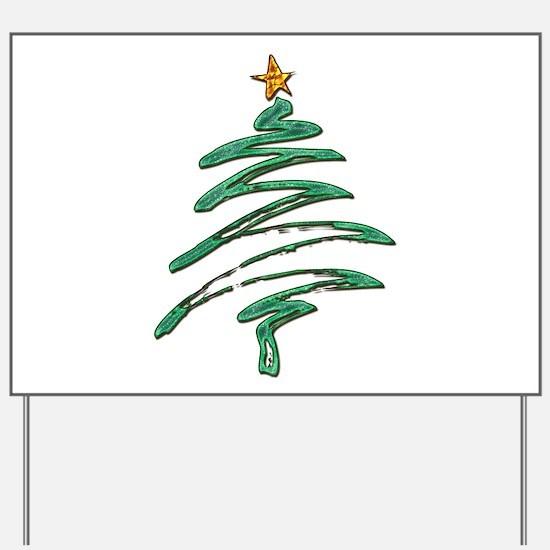 Swished Xmas Tree Logo copy Yard Sign
