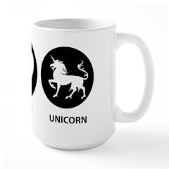 Peace Love Unicorn Large Mug