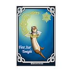 Celtic Ferret Moon Mini Poster Print