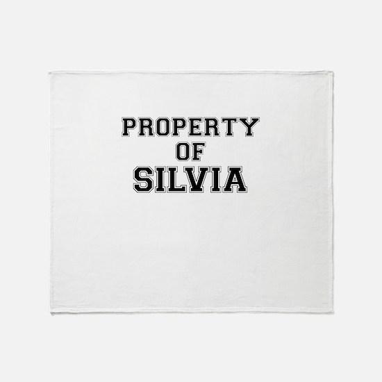 Property of SILVIA Throw Blanket