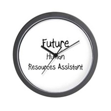 Future Human Resources Assistant Wall Clock