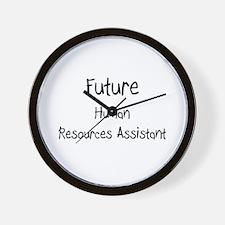 Future Human Resources Assistant Wall Clock