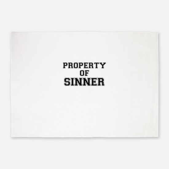 Property of SINNER 5'x7'Area Rug