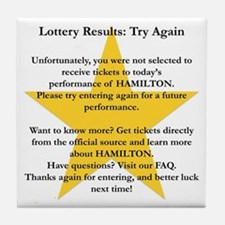 Hamilton Lottery Tile Coaster