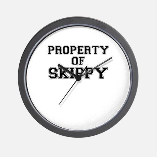 Property of SKIPPY Wall Clock