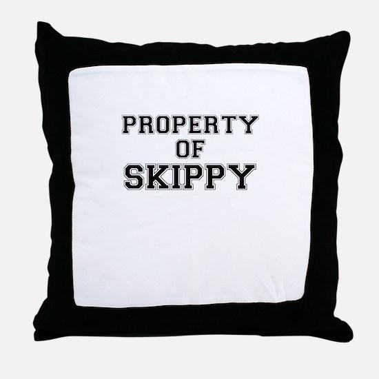 Property of SKIPPY Throw Pillow