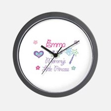 Emma - Mommy's Little Princes Wall Clock