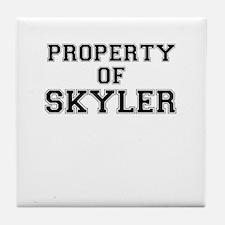 Property of SKYLER Tile Coaster