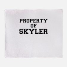 Property of SKYLER Throw Blanket
