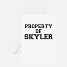 Property of SKYLER Greeting Cards