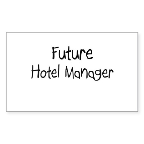 Future Hotel Manager Rectangle Sticker