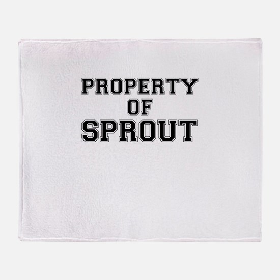 Property of SPROUT Throw Blanket