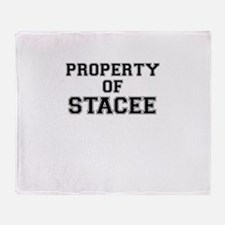 Property of STACEE Throw Blanket