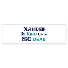 Xander is a big deal Bumper Bumper Sticker