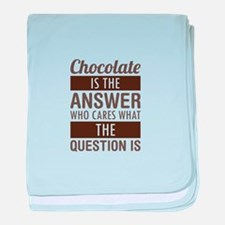 Chocolate Answer baby blanket