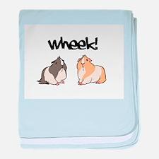 Wheek Guinea pigs baby blanket