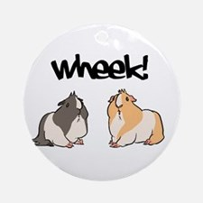 Wheek Guinea pigs Round Ornament