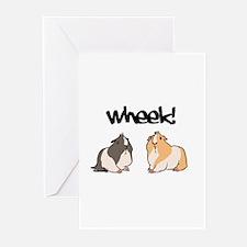 Wheek Guinea pigs Greeting Cards