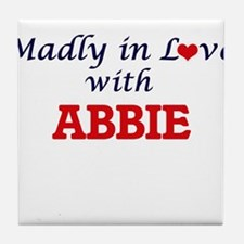 Madly in Love with Abbie Tile Coaster
