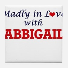 Madly in Love with Abbigail Tile Coaster