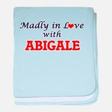 Madly in Love with Abigale baby blanket